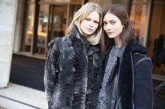Anna Ewers et Marine Deleeuw http://www.vogue.fr/defiles/street-looks/diaporama/fw2014-street-looks-a-la-fashion-week-de-new-york-automne-hiver-2014-2015-jour-4/17515/image/942299#!anna-ewers-et-marine-deleeuw