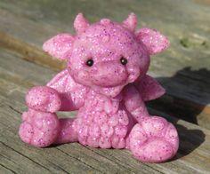 Magenta pink shimmer Dragon