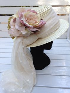#FeathersTocados brides canotier velo