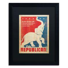 'Elephant' by Anderson Design Group Framed Vintage Advertisement
