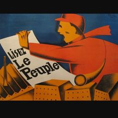 Shown is Kersters's 1920s poster for a French newspaper.