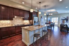 Gallery - Creative Homes. Amazing kitchen in one of our homes in the neighborhood Liberty West, located in Stillwater Minnesota.