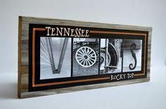 Tennessee Volunteers Rustic Wood Block by SimplySpelled on Etsy, $25.00