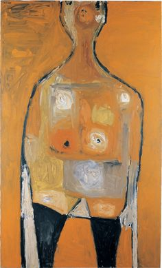 William Scott, Seated Figure: Orange, Oil on canvas, × cm / 66 × 40 in, Whereabouts unknown Figure Painting, Painting & Drawing, Sean Scully, People Figures, Irish Art, Great Paintings, Global Art, Figurative Art, Amazing Art