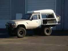 60 Series Flatbed/Ute/Tray back etc. Fj Cruiser, Toyota Land Cruiser, Landcruiser Ute, Ute Canopy, Ute Trays, Australian Cars, Rc Crawler, Roof Lines, Rv Campers
