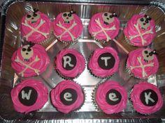 Pink Skull Cupcakes (for radiology week) Skull Cupcakes, Radiologic Technology, Rad Tech, Pink Skull, Medical Field, Radiology, Bake Sale, Yummy Treats, Random Stuff