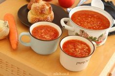 מרק עגבניות ואורז ללא שמן Chana Masala, Soup, Cooking Recipes, Baking, Ethnic Recipes, Bread Making, Cooker Recipes, Patisserie, Soups