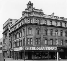 The former Moran and Cato merchants and grocers building on the corner of Victoria St and Brunswick St Fitzroy Melbourne Australia  photographer: John L. O'Brien