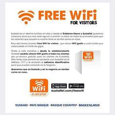 Muy interesante iniciativa de Irekia - Gobierno Vasco & Euskaltel Free Wifi. #Gipuzkoa #Hosteleria #Kalitatea