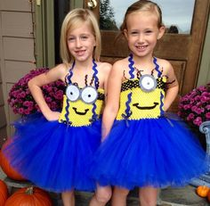 Minion costumes despicable me tutu dress costumes by www.blissycouture.com