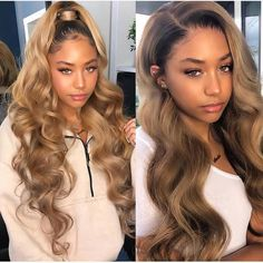 Buy Glueless Lace Front Wigs Indian Remy Hair Ombre Highlight Color at WowEbony, Our Human hair Ombre lace front wigs are of super quality. Ombre Curly Hair, Kinky Curly Hair, Curly Hair Styles, Natural Hair Styles, Curly Prom Hair, Baddie Hairstyles, My Hairstyle, Weave Hairstyles, Blonde Hairstyles