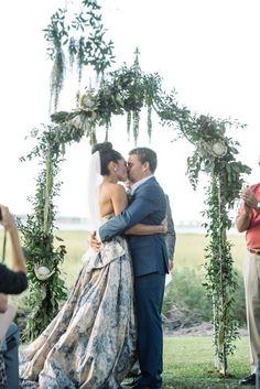 elegant wedding ceremony; photo: Sean Money + Elizabeth Fay