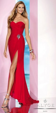 Prom DressesEvening Dresses by ALYCE B'DAZZLE35622Fun Red!