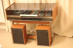 Deccasound Compact 3 Record player radiogram with chrome stand and speakers | eBay