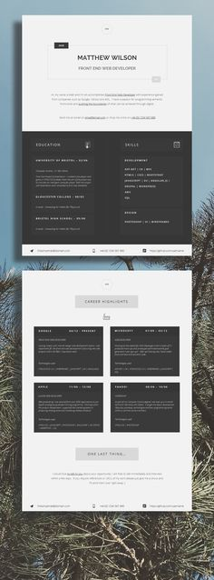 Perfect for Web Developers! Make your job application responsive with this uber-clean and professional CV Template.