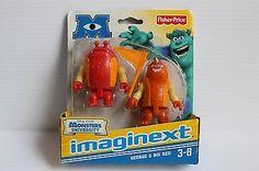 Disney Pixar MONSTERS UNIVERSITY Fisher Price Imaginext George & Big Red figures