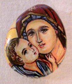 Theotokos:pencils on pebble.