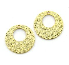 12pcs 14mm 18mm Gold Plated Stardust Round by FancyGemsandFindings, $5.10
