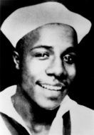 "Alexander Murray Palmer ""Alex"" Haley (August 11, 1921 – February 10, 1992). Born Ithaca, NY. Attended Elizabeth City College, NC but quit and joined US Coast Guard in '39 serving in Pacific during WW II. Retired from USCG in '59 rank of CPO. Author best known for ""Roots""."