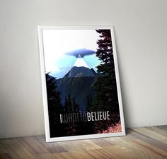 Typography X-Files Inspired I Want To by KennethQuadeDesigns