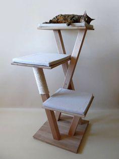 arbre a chat en bois massif de 6 tages design arbres chat et chats. Black Bedroom Furniture Sets. Home Design Ideas