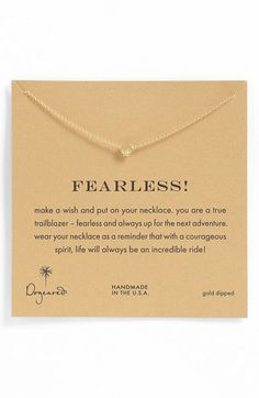 Dogeared 'Whispers - Fearless' Pendant Necklace available at #Nordstrom