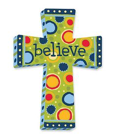 Loving this 'Believe' Cross on #zulily! #zulilyfinds