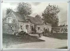 Maisons bretonne (dessin mine graphite 2016)
