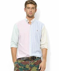 Polo Ralph Lauren Custom-Fit Striped Oxford Shirt