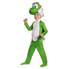 Toddler Super Mario Brothers Yoshi Costume, Kids Unisex, Size: 3T-4T, Multicolor