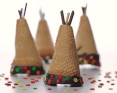 Thanksgiving Sugar Cone Tepees