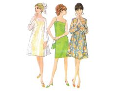 McCalls 8805 Sewing Pattern Misses Slip Dress and by CrabandCrow