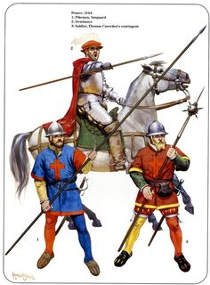 Painting guide for the Great Italian Wars and Spanish Conquistadores in the New World. It covers: Spanish Infantry, Spanish Cavalry, Italian, German/Landsknecht, Swiss. Medieval Knight, Medieval Armor, Medieval Fantasy, Armadura Medieval, Military Art, Military History, Military Uniforms, Renaissance, Early Modern Period