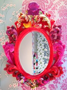Baroque frame pink and bright colours