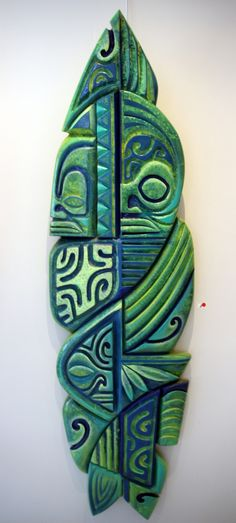 Awesome art of the exhibit in Tahiti. Diaporama 2015