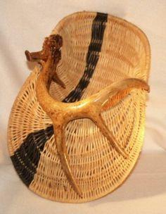 Basket.Basketry Art #Basketry Art #Art #Basketry#Basket #Craft #weave #weaving #weaver#Antler Basket