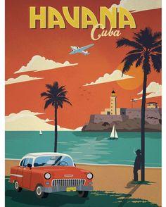 Werbeplakat für Havanna aus den #50s - sieht noch genau so aus ;)