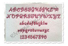"$2.95Small Mini Dancer Machine Embroidery Font Alphabet - 1/2"""