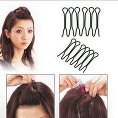 2Pcs Women Black Mini Inserted Hair Pins Hairpins Hairclips Metal Hair Clips Barrettes Headwear Girls Hair Accessories For Women
