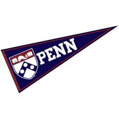 University of Pennsylvania Felt Pennant measures 12x30 inches, is made of felt…