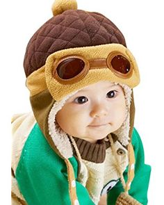1d9435b27fa 10 to 48 Months Baby Winter Hat 4 Colors Toddlers Cool Baby Boy Girl Infant  Winter Pilot Warm Kids Cap Hat Beanie