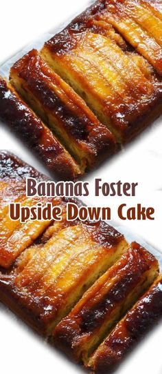 Bananas Foster Upside Down Cake. #CompleteRecipes #recipe #recipes #food #foodgasm #cleaneating #healthyfood #healthy #healthyrecipes #bananacake