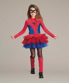 Ultimate Spider-Girl® Costume For Girls - exclusively ours - Only the daughter of Peter Parker and Mary Jane Watson could look this incredible. Girl Spiderman Costume, Spider Girl Costume, Superhero Dress Up, Spiderman Girl, Girl Superhero Costumes, Diy Girls Costumes, Cute Halloween Costumes, Super Hero Costumes, Tutus For Girls