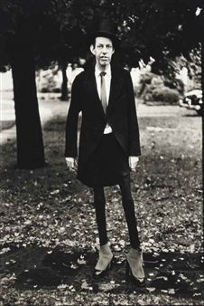 Diane Arbus, A very thin man in Central Park, N.Y.C., 1961