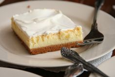 cheesecake squares with sour cream topping
