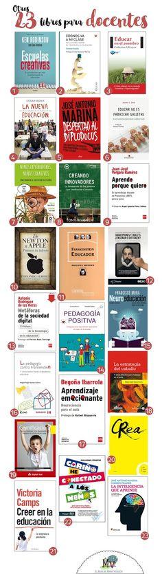 En esta ocasión comparto con vosotros otros 23 libros para docentes. Son libros amigos que nos susurran al oído los secretos de nuestra p...