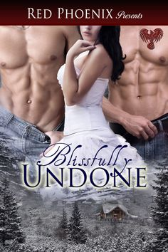 Blissfully Undone by Red Phoenix http://www.amazon.com/Blissfully-Undone-ebook/dp/B00AOXP1DY Two couples plan a mountain getaway, but only Dan & Jenny make it before the blizzard. With tons of time & a natural attraction, things start to heat up. Dan is an unusually creative lover... By the time the 2 are rescued, Jenny is forced to admit to her boyfriend, Ryan, that she has fallen in love. The pivotal moment defines the depth of Ryan's love when they move into being a true Ménage à trois.