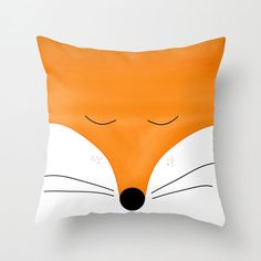 Fox pillow cover and/or insert in 16x16 18x18 20x20 animal pillow,  Fox cushion Fox lovers, Fox bedding, red fox, Orange Home decor bedroom