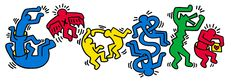 Keith Haring's 54th Birthday [54 года со дня рождения Кита Харинга] /This doodle was shown: 04.05.2012 /This is global doodle. It was shown for all countries