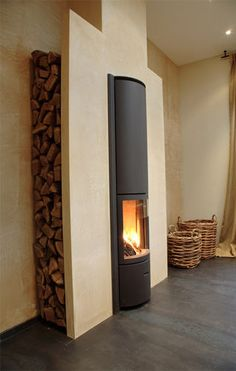 contemporary fireplace (wood-burning closed hearth) 30-IN Stûv